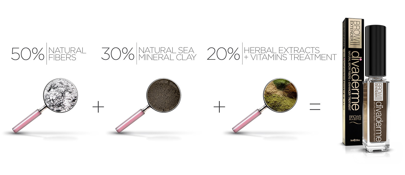 80% Natural Fibers, 20% Herbal Extracts + Vitamins Treatment